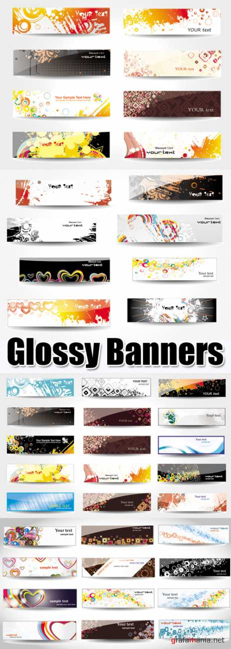 Color Glossy Banners Vector