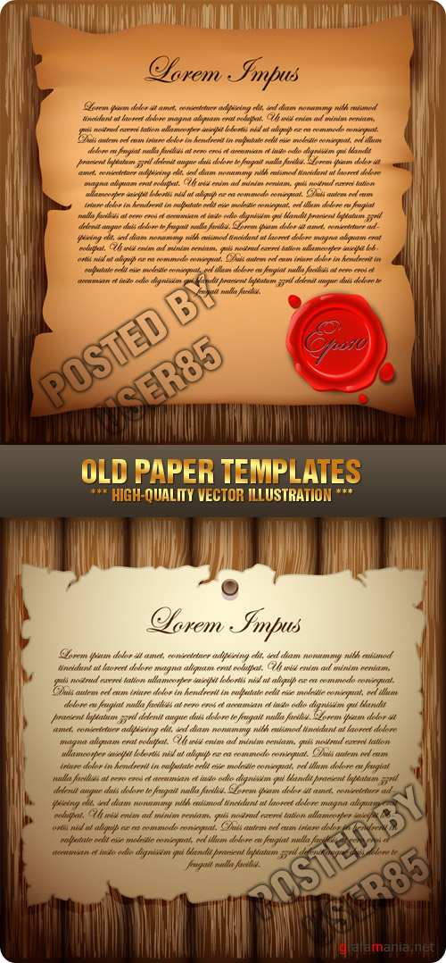 Stock Vector - Old Paper Templates
