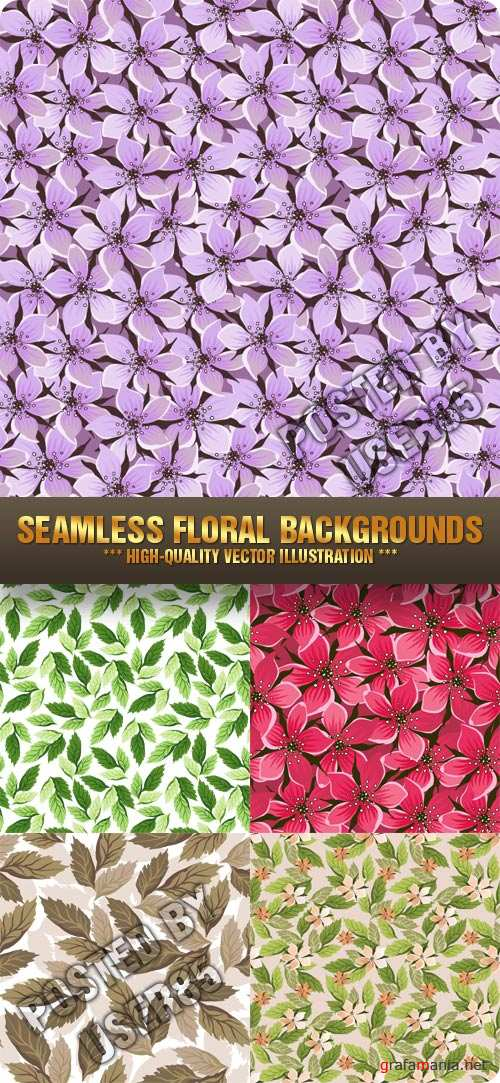 Stock Vector - Seamless Floral Backgrounds