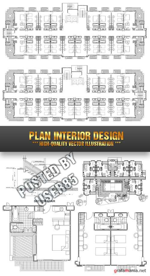 Stock Vector - Plan Interior Design