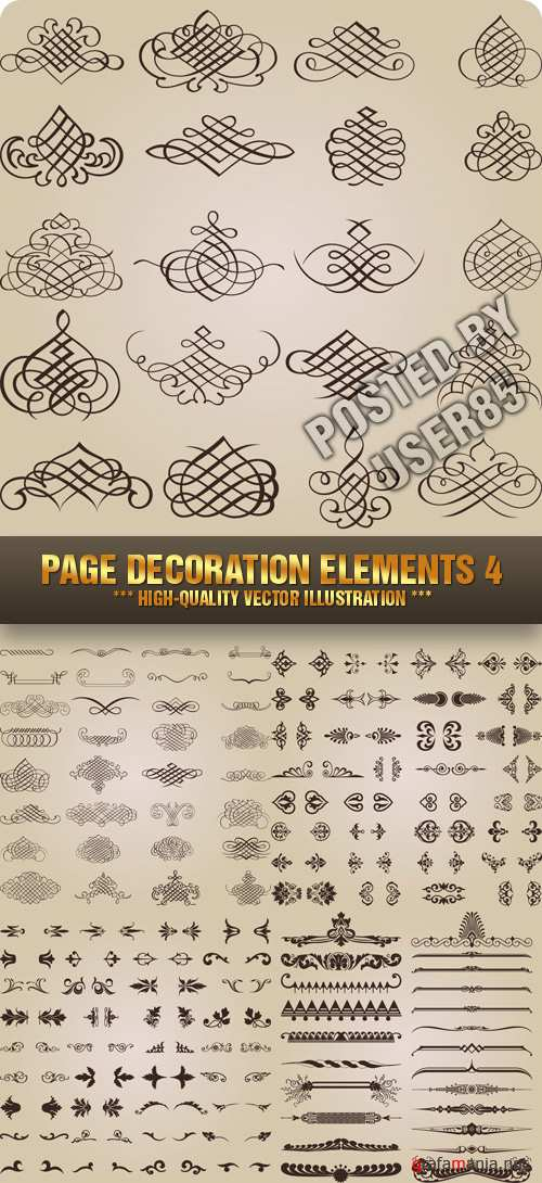 Stock Vector - Page Decoration Elements 4