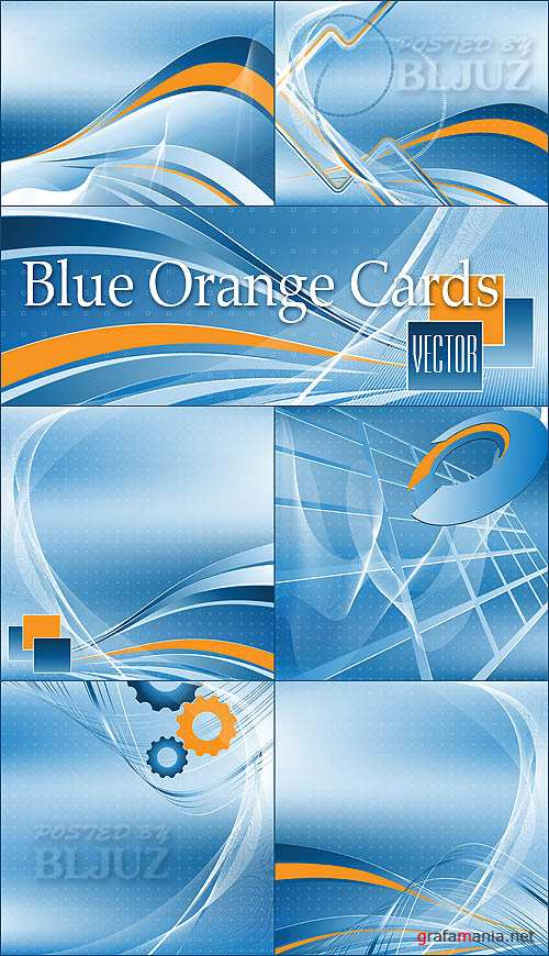Blue Orange Cards