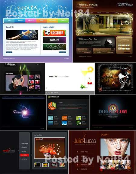 10 Flash Template Website 22K FULL