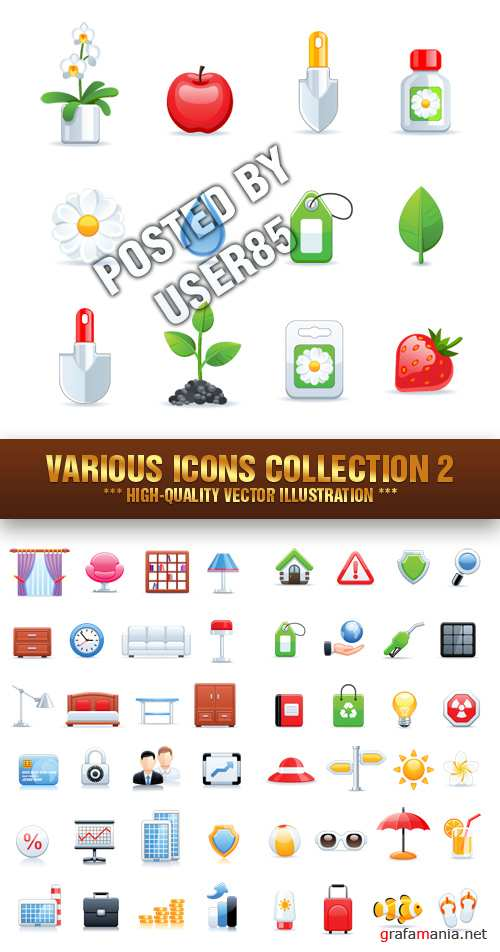 Stock Vector - Various Icons Collection 2