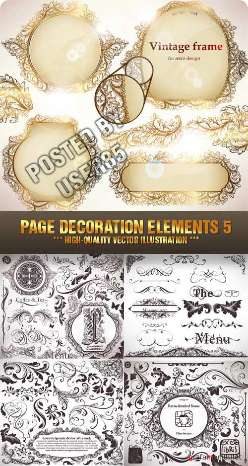 Stock Vector - Page Decoration Elements 5