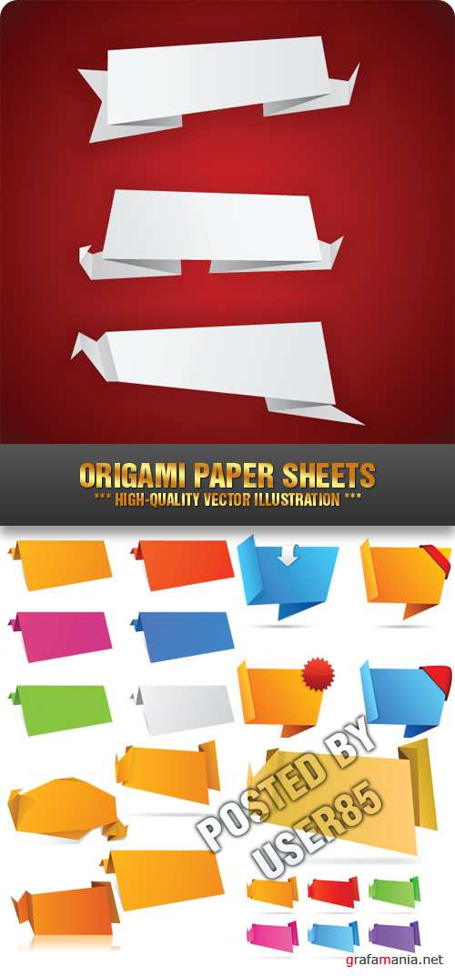 Stock Vector - Origami Paper Sheets
