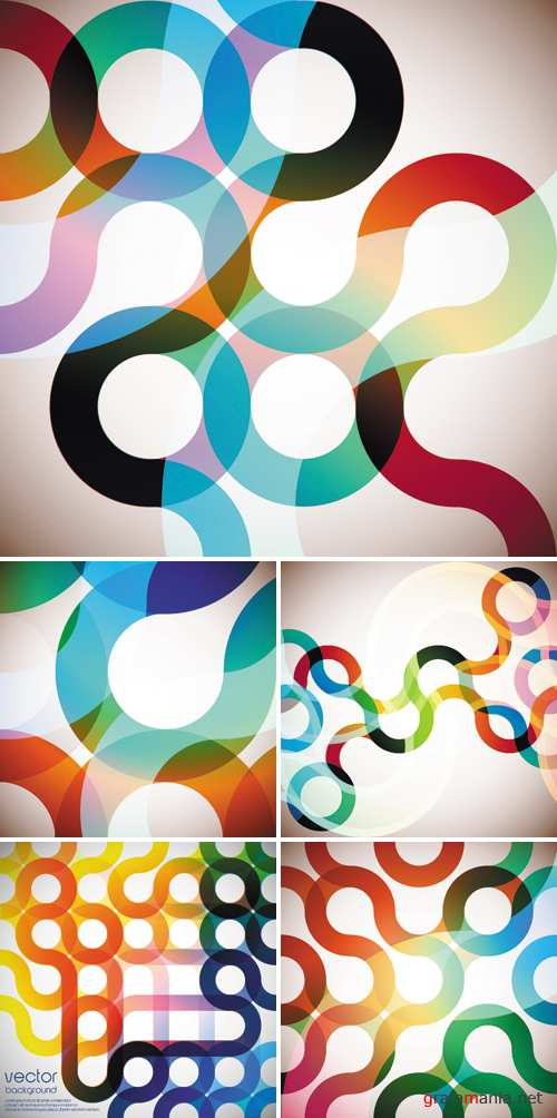 Abstract Circles Backgrounds Vector