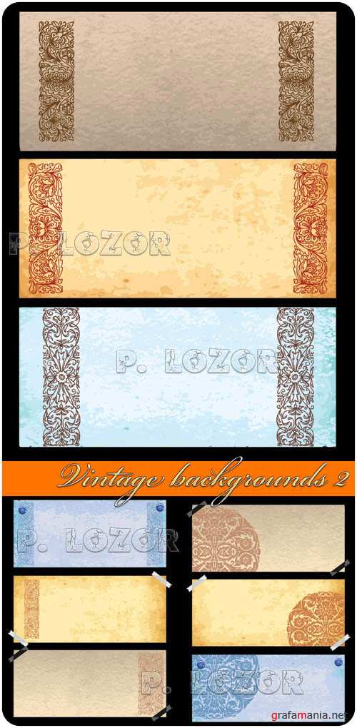 Vintage backgrounds in vector 2