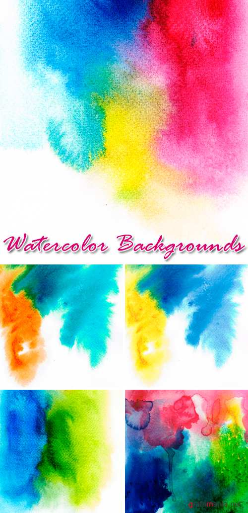 Stock Photo - Watercolor Backgrounds