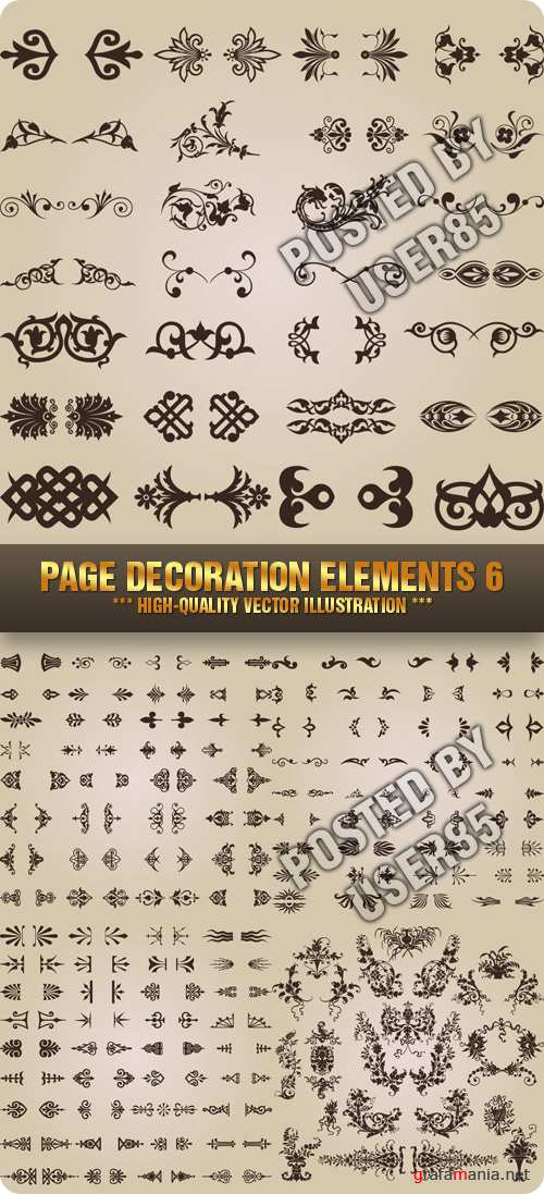 Stock Vector - Page Decoration Elements 6