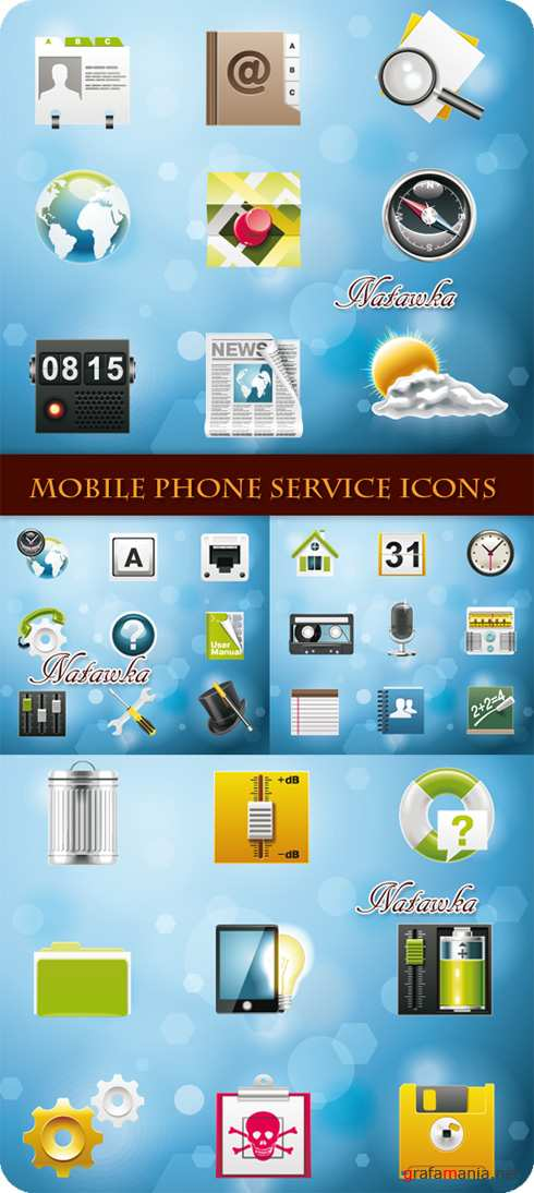 Mobile Phone Service Icons - Stock Vectors #2