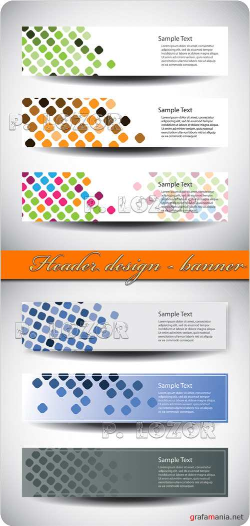 Header design - banner vector