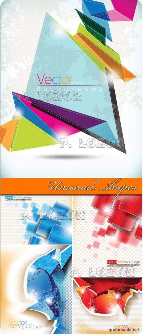 Unusual shapes vector background