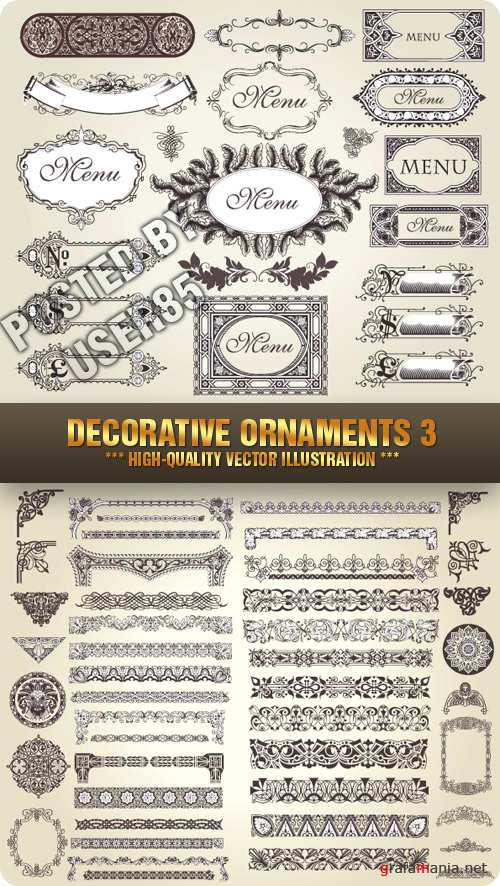 Stock Vector - Decorative Ornaments 3