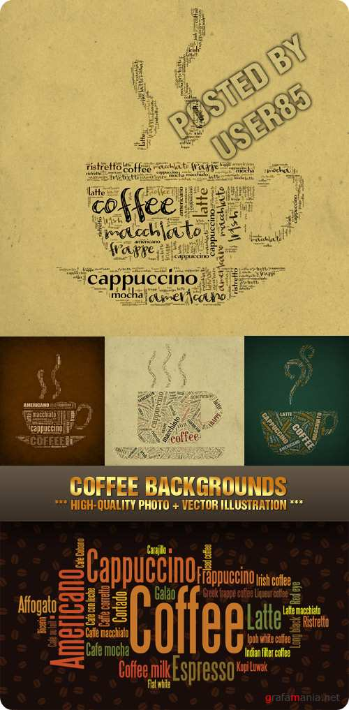 Stock Photo - Coffee Backgrounds