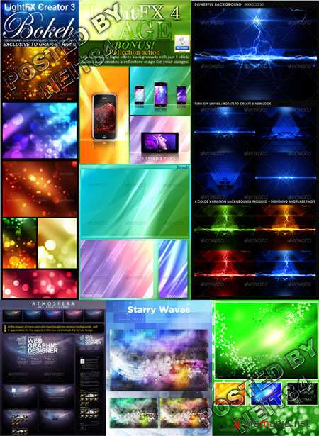 Graphicriver LightFX Creator Starry Waves Web Backgrounds