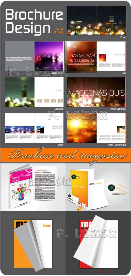 Brochure and magazine template