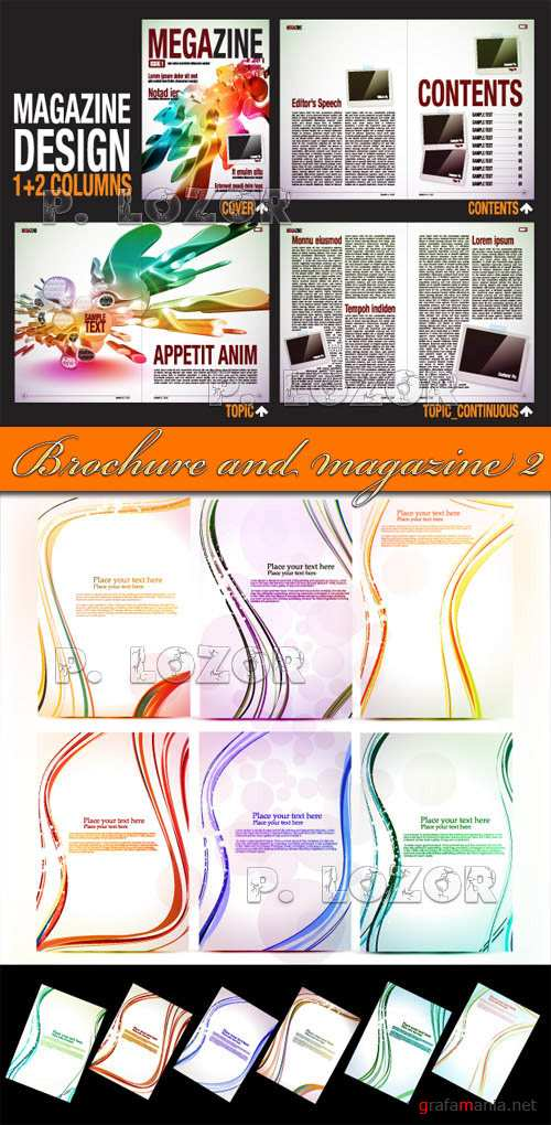 Brochure and magazine template set.2