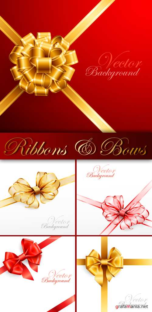 Festive Bows and Ribbons Vector | �������� ����� � ����� � �������