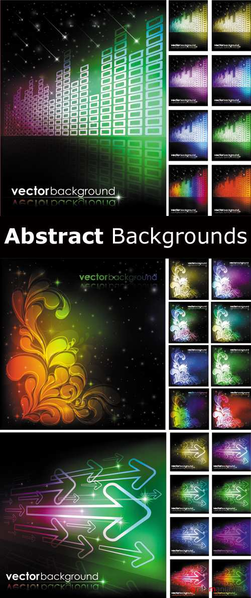 Abstract Color Backgrounds Vector 2