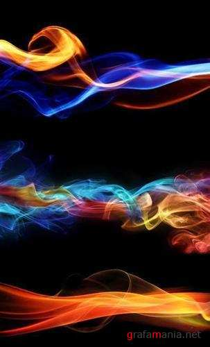 Multicolored smoke - backgrounds (������������ ��� - ����)