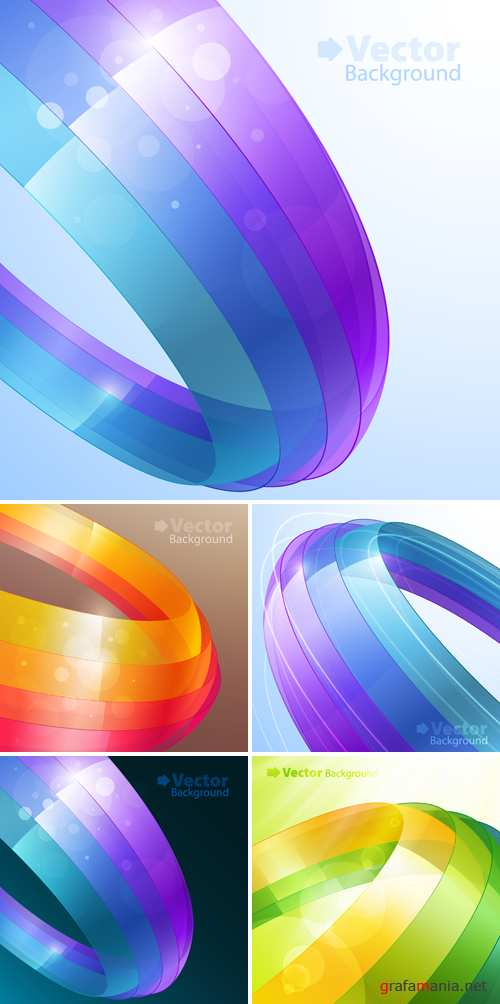 3D Abstract Backgrounds Vector 2