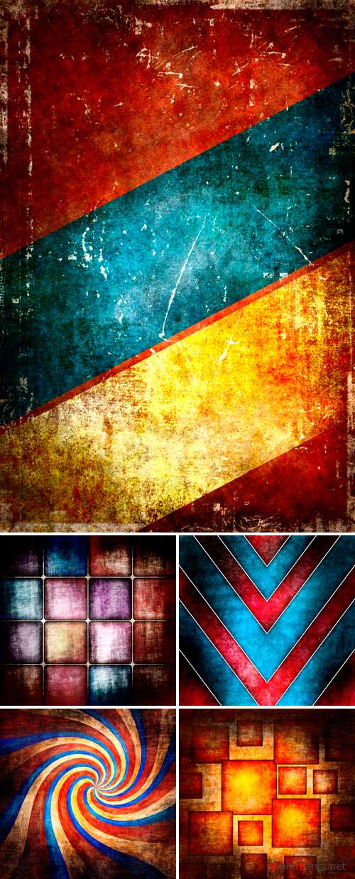 Stock Photo - Grunge Color Backgrounds 4