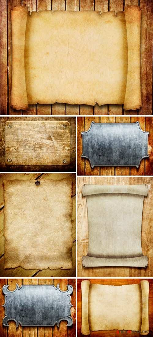 Stock Photo - Vintage Objects on Wooden Backgrounds