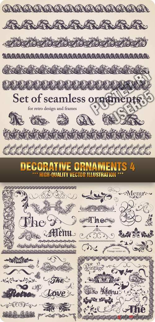 Stock Vector - Decorative Ornaments 4
