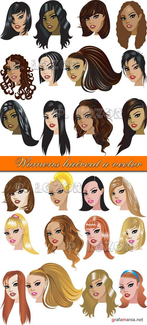 Womens haircut a vector