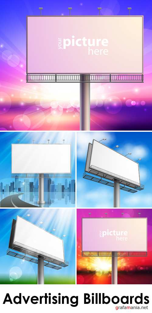 Advertising Billboards Vector 2