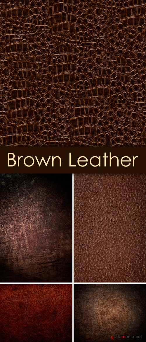 Stock Photo - Brown Leather Backgrounds | Коричневая кожа фоны
