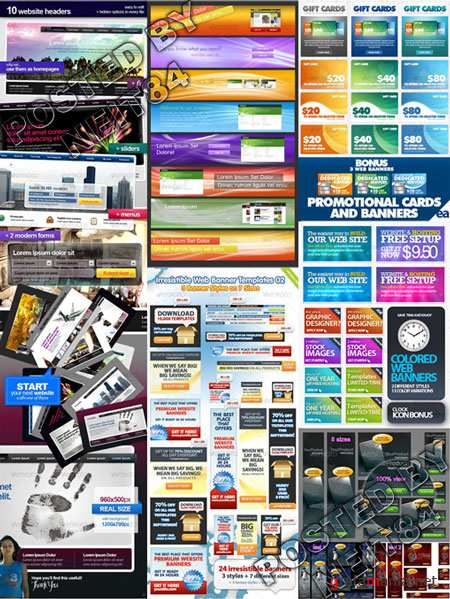 Graphicriver Web Headers Promotional Cards and Banners