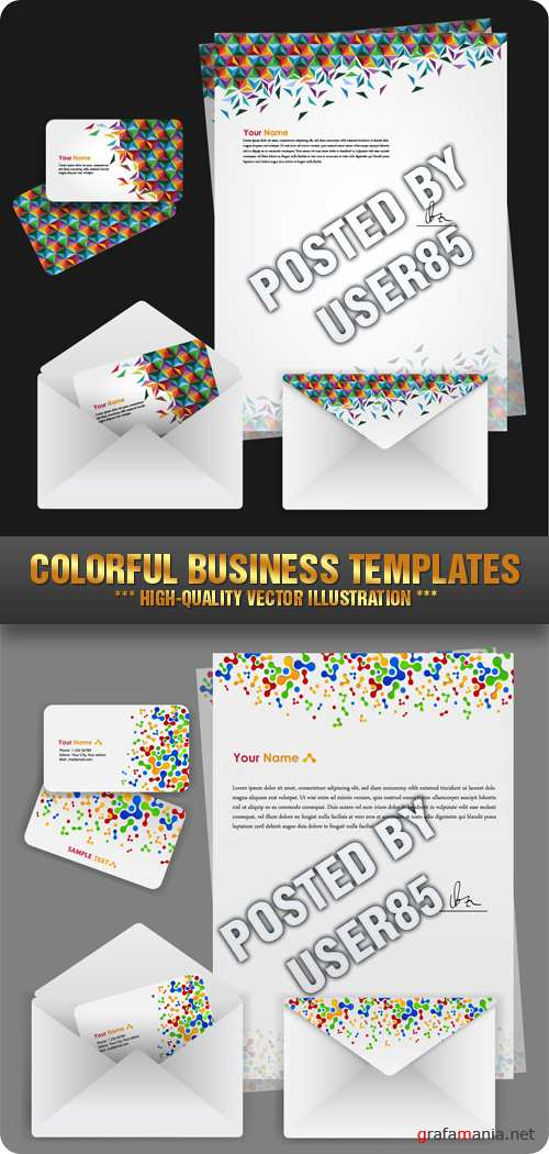 Stock Vector - Colorful Business Templates