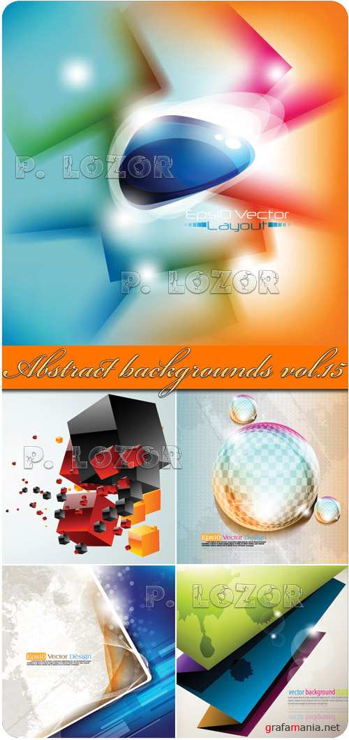 Abstract vector backgrounds vol.15