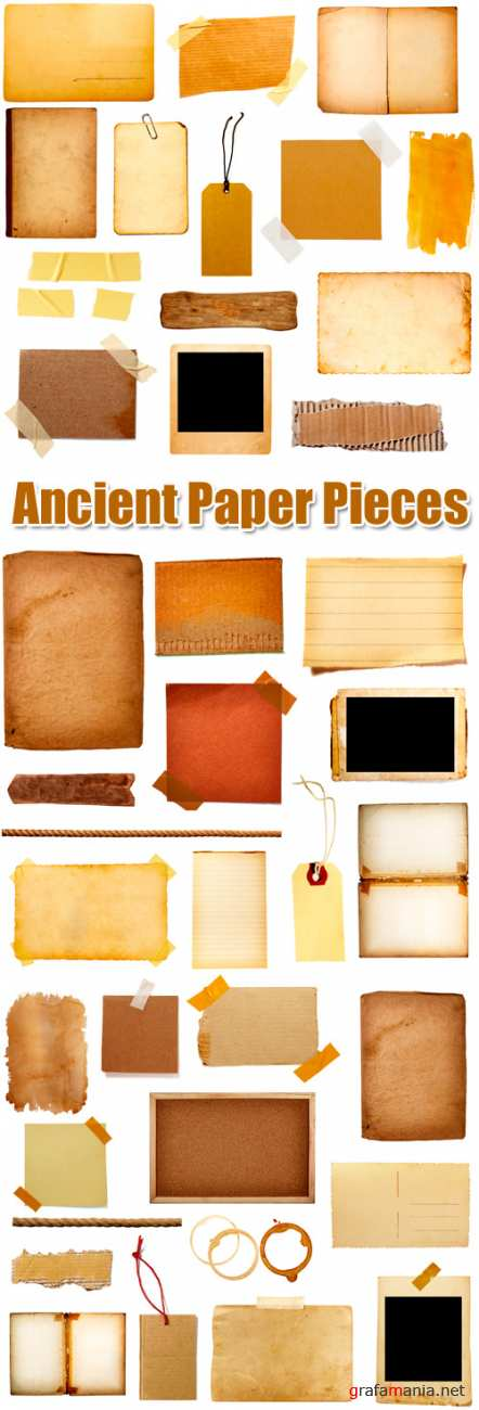 Stock Photo - Ancient Paper Pieces