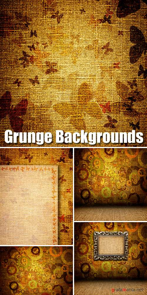 Stock Photo - Grunge Backgrounds with butterfly