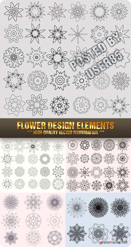 Stock Vector - Flower Design Elements