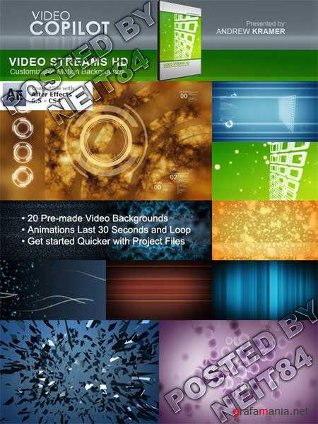 Footage and After Effect VidoCopilot Video Streams HD