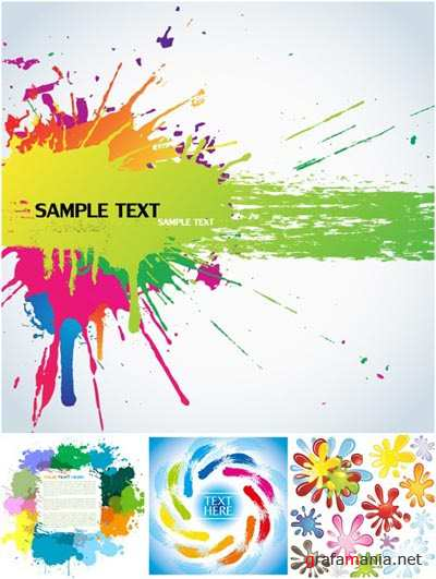 Stock vector - Vector Color Ink