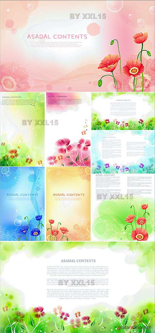 Flower backgrounds 8