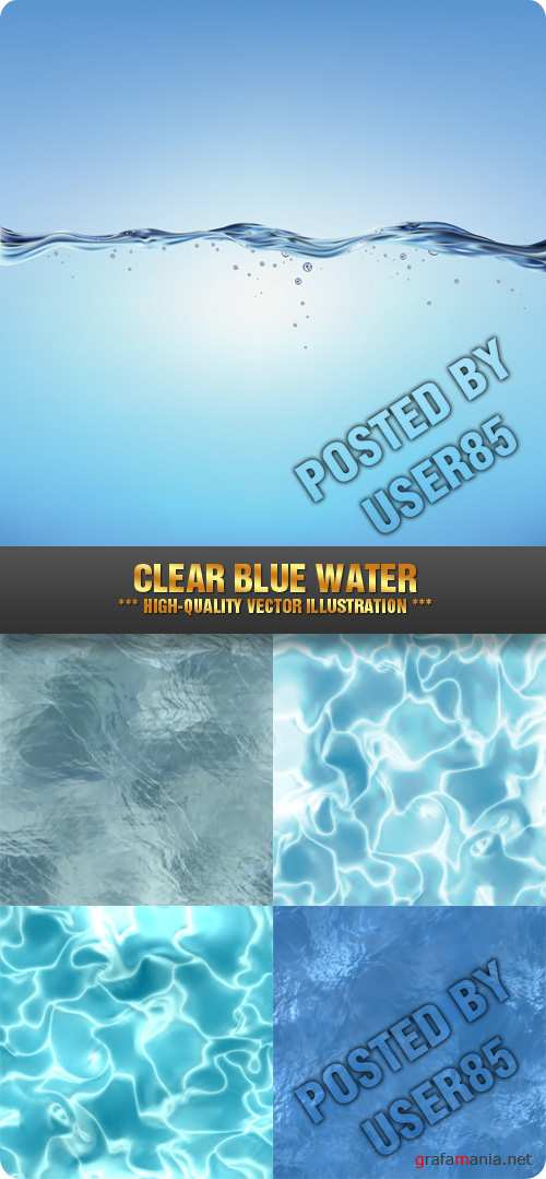 Stock Vector - Clear Blue Water