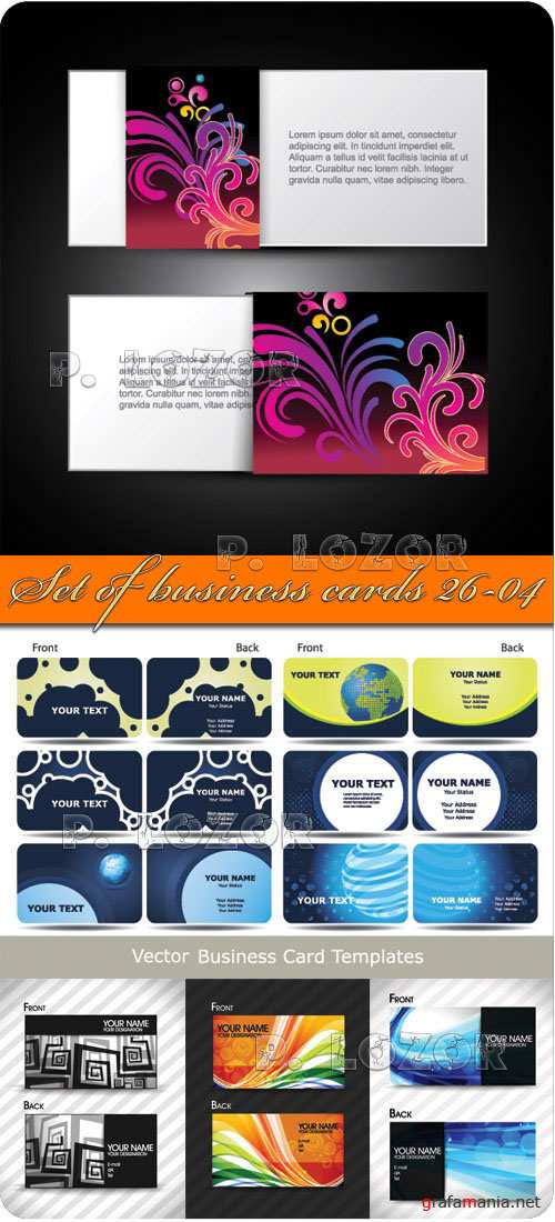 Set of business cards 26_04