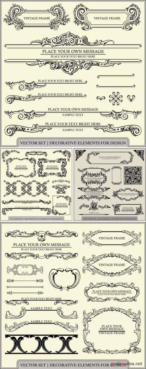 Page Decoration Elements Vector