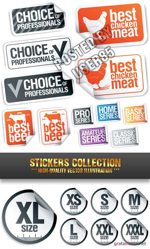 Stock Vector - Stickers Collection