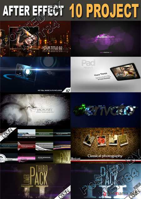 10 New After Effects Project of April 2011 pack 40