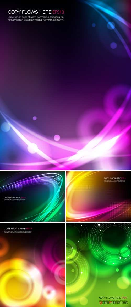 Abstract Glowing Backgrounds Vector
