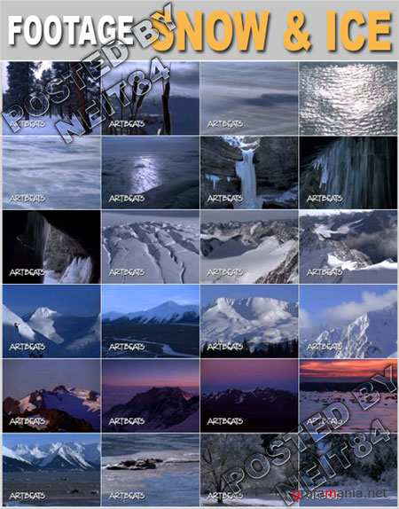 Footage Nature Snow and Ice NTSC