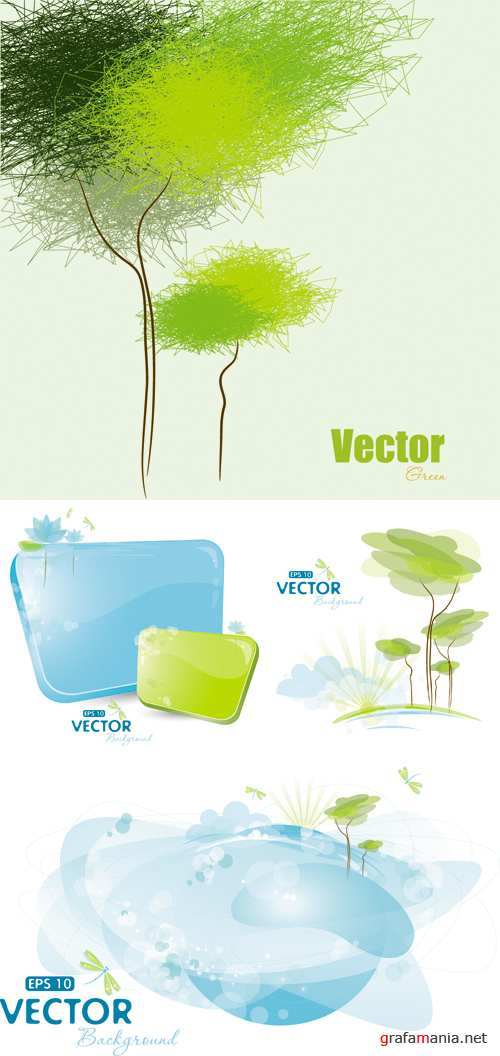 Nature Backgrounds Vector | Природа, фоны, вектор