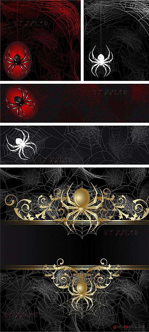 Backgrounds with spiders